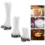 YeeStone Kerzendocht 150 Stück Kerzendochte Kerzen Dochte Candle Wick in 3...