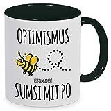 Tassenliebe® 'Optimismus heißt umgedreht Sumsi mit Po - Kaffeebecher, Tasse mit...