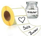 LEANDER DESIGN® 1000 Etiketten selbstklebend 6x3 cm – praktische Aufkleber zum...