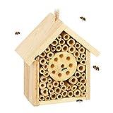 Relaxdays Insektenhotel, Nisthilfe für Wildbienen & Wespen, Garten, Balkon,...