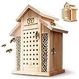 Nature Conform Insektenhotel Naturholz - Bienenhotel [BEOBACHTUNGSNISTKASTEN]...