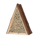 Gardigo Bienenhotel aus FSC Holz I Unterschlupf für Wildbienen I Bienenhaus für den...
