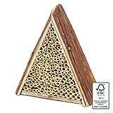 Gardigo Bienenhaus I Nisthilfe für Bienen aus Holz, zum Aufhängen I Bienenhotel,...