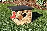 Garten und Holztrends Hummelhaus mit Extra großem Sichtfenster (H2) Hummelkasten,...