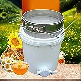 OUkANING 20L Honigeimer Honig Bucket Filter Imker Honig Sieb Strainer Sifter...