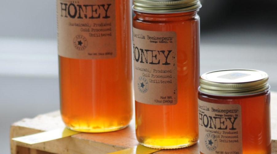 Design eines Bienenhonig Etiketts