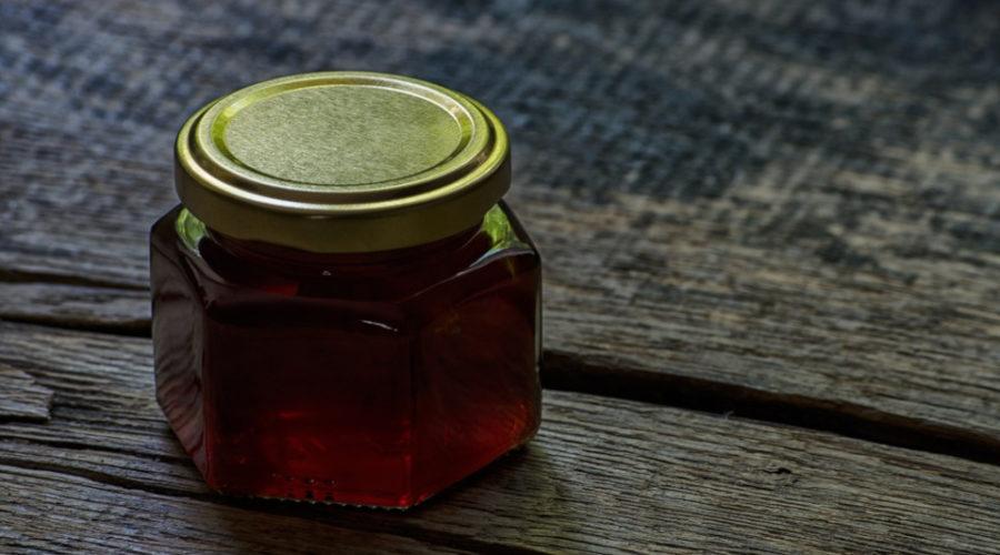 Hintergrund Bienenhonig Etikett