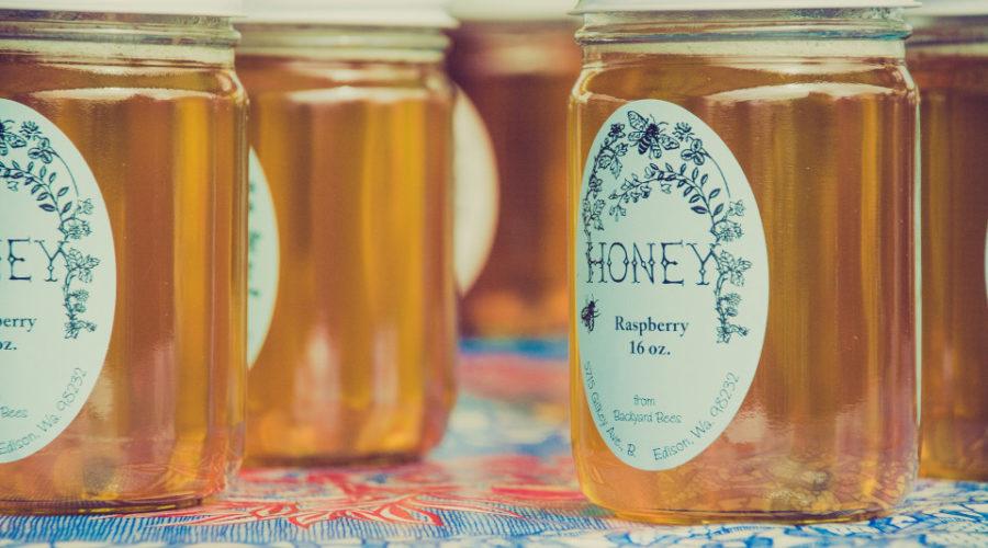 Bienenhonig Etiketten