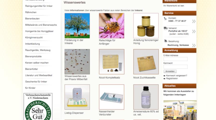 Bienenweber Erfahrungen mit Bienen online Shop