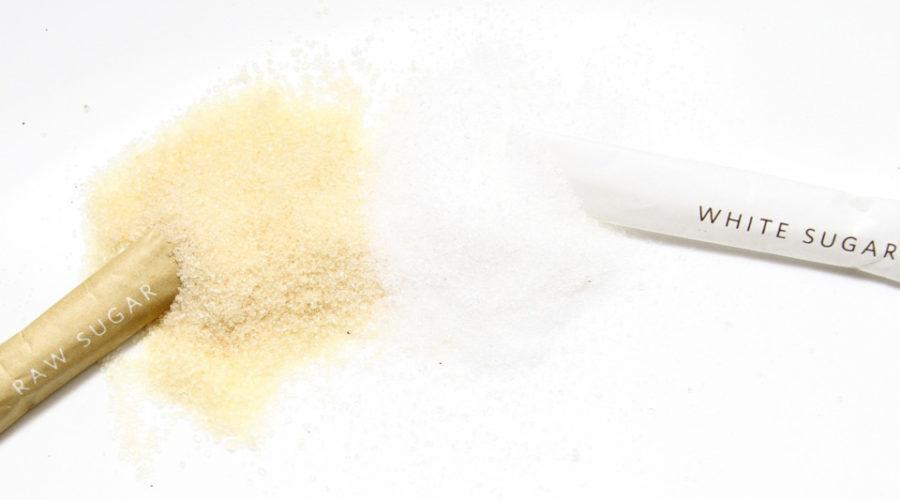 Farinzucker und weißer Zucker