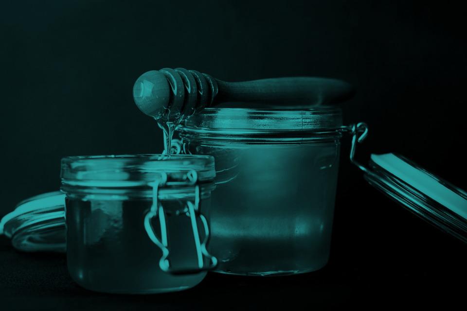 Blauer und grüner Honig